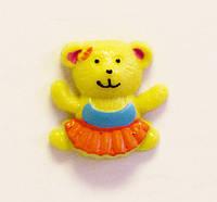 Кабошон-Мишка (желтый)