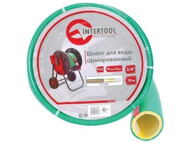 """Шланг поливочный """"Intertool"""" салатовый  4-х слойный арт. GE-4123 сечение 3/4"""", длина 20 м"""