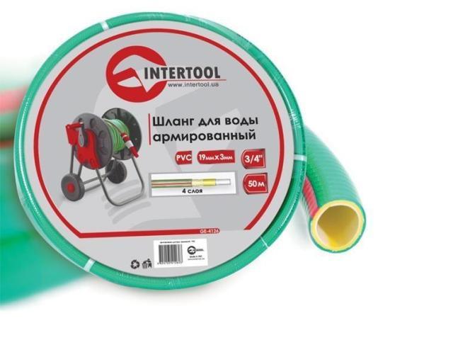 """Шланг поливочный """"Intertool"""" салатовый  4-х слойный арт. GE-4126 сечение 3/4"""", длина 50 м"""