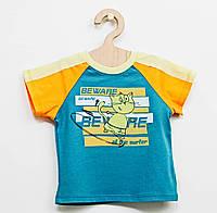 """Хлопковая  футболка """"Котик""""  для мальчика"""
