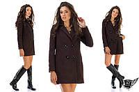 Пальто женское кашемировое на пуговицах бордовое,  шоколадное, черное, серое,