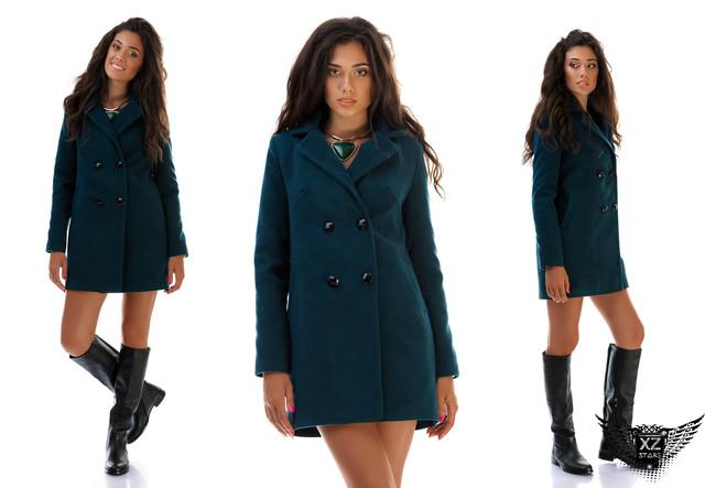 Фотография Пальто женское кашемировое на пуговицах бордовое,  шоколадное, черное, серое,