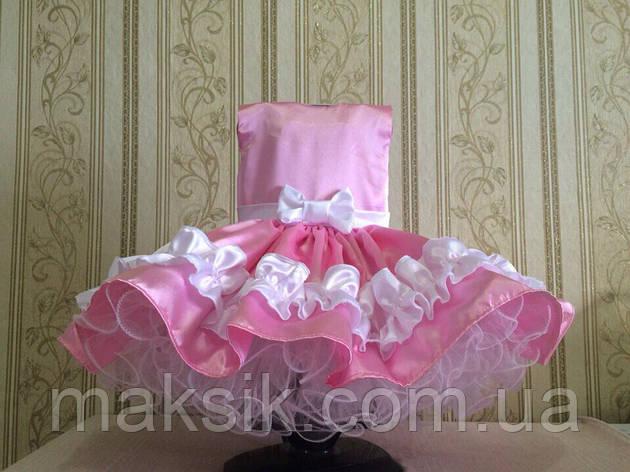 Прокат. Шикарное розовое платье (без белых рюшей)  р.110-120, фото 2