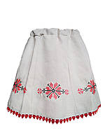 Льняная вышитая юбка для девочки в украинском стиле