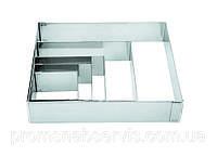 Форма квадратная из нержавеющей стали,6 шт( 8*8 см), LACOR