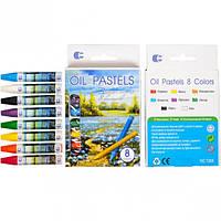 """Восковые карандаши 8 цветов OIL PASTELS """"С"""""""