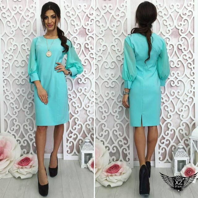 Платье короткое с коротким рукавом А1