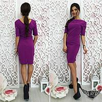 Платье с рукавом 3/4 из шифона А1