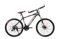 """Горный велосипед OSKAR 26"""" X6 1618  чёрно-красный Сталь Гарантия 12 мес."""
