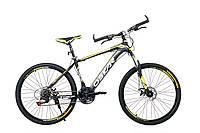 """Горный велосипед OSKAR 26"""" X6 1618  чёрно-желтый Сталь Гарантия 12 мес."""