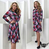 Платье в клетку большего размера А1