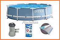 Каркасный бассейн + насос-фильтр 305*76 см, код 28702