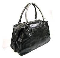 Дорожная сумка-саквояж ручная кладь из натуральной кожи J&M 7071J