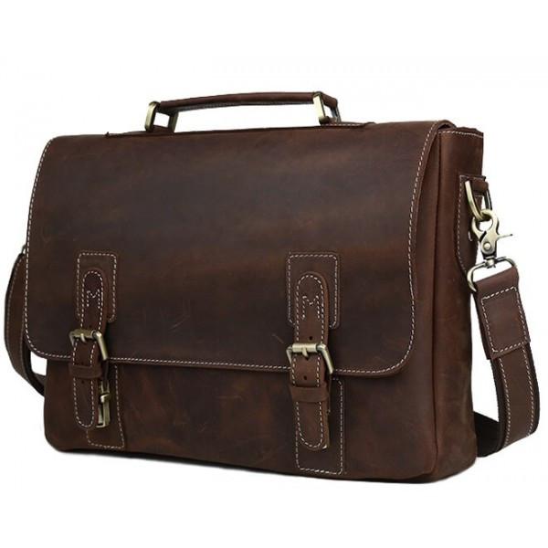 7ce9af0da2af TIDING BAG Мужской кожаный портфель TIDING BAG T8069DB - купить по ...