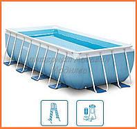 Каркасный бассейн Интекс 400*200*100 см с насосом-фильтром, код 28316