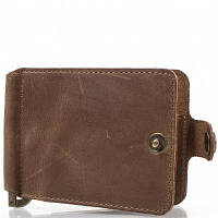 Зажим для купюр мужской кожаный dnk leather (ДНК ЛЕЗЕР) dnk-clamp-hcol.g