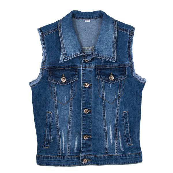 фотография джинсовая жилетка для девочек