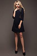 Батальная женская темно-синяя туника Силар_1 Jadone Fashion 50-56 размеры