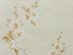 Обои на стену, цветы, светлый, крупный рисунок, акрил на бумаге, B77,4 Каролина 703-01, 0,53*10м , фото 2