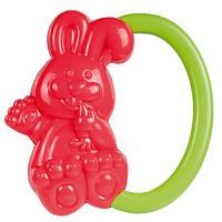 Погремушка Зайчик (красный с зеленой ручкой), Canpol babies