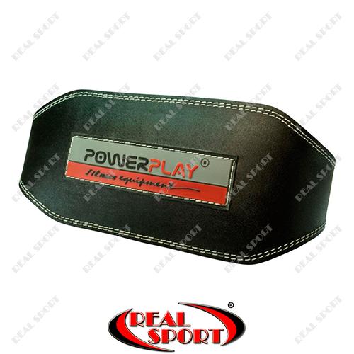 Пояс атлетический PowerPlay 5053 Black, кожа