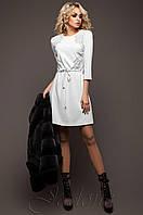 Батальная женская белая туника Силар_1 Jadone Fashion 50-56 размеры