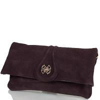 Женская сумка-клатч из качественного кожезаменителя и натуральной замши anna&li (АННА И ЛИ) tu13784-brown