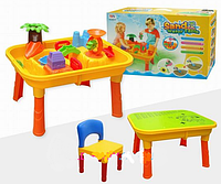 Столик-песочница детский со стульчиком и крышкой Bambi M 0832 UR
