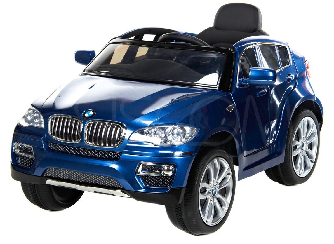 Детский электромобиль BMW X6 (голубой)