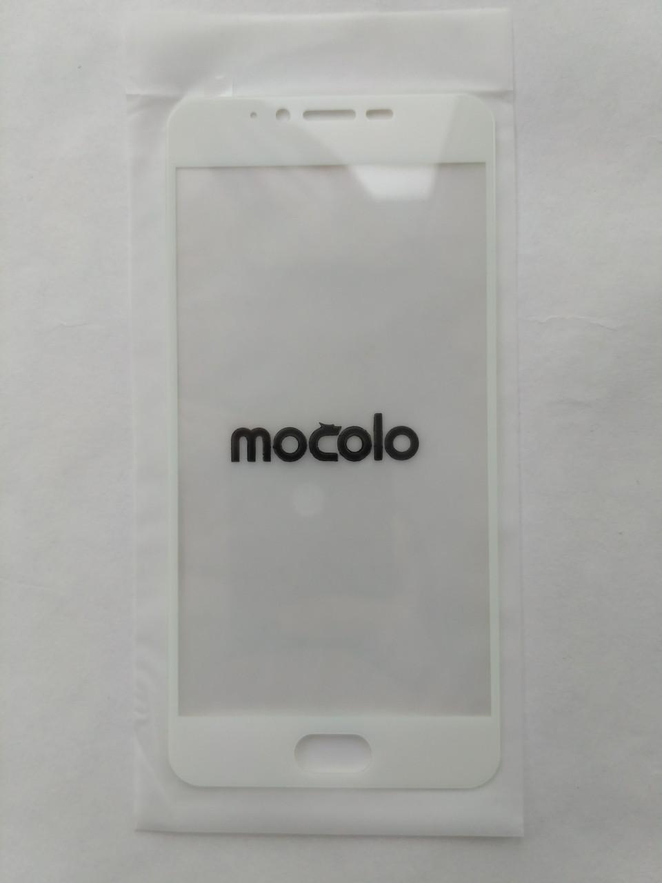 Защитное стекло белое Mocolo для Meizu M5