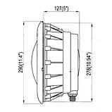 Подводный светодиодный прожектор 15 Вт / 12 В,  цветной RGB, 180 LED, 380 Lm, под бетон ,On/off Control, фото 3