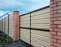Забор из профнастила, евроштакетника, сруба металлического, фото 2