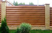 Забор из профнастила, евроштакетника, сруба металлического, фото 4