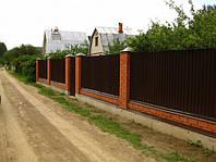 Забор из профнастила, евроштакетника, сруба металлического