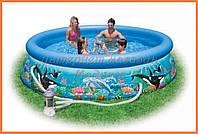Круглый бассейн с фильтрационным насосом 366*76 см, арт. 28136 (54906)