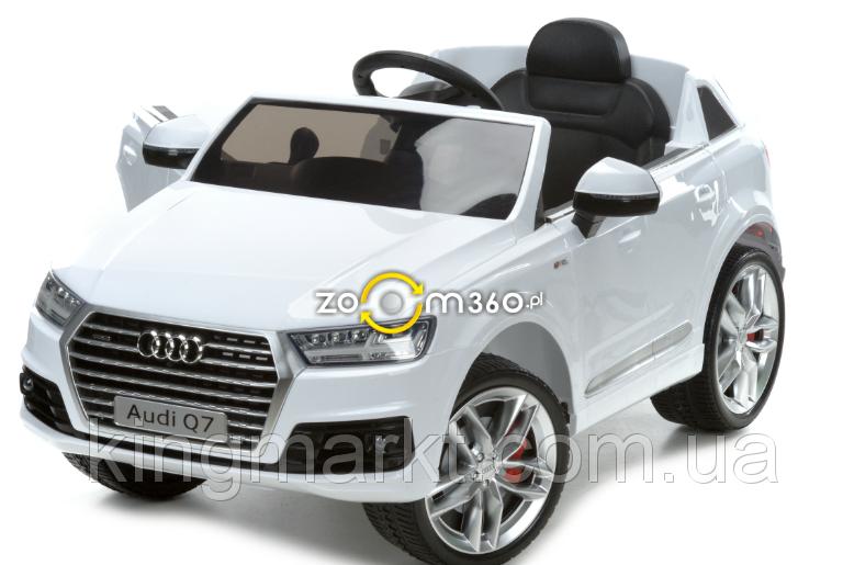 Детский электромобиль AUDI Q7 белый (лицензия)