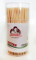 ПОМ Зубочистки бамбук 200 шт (банка)