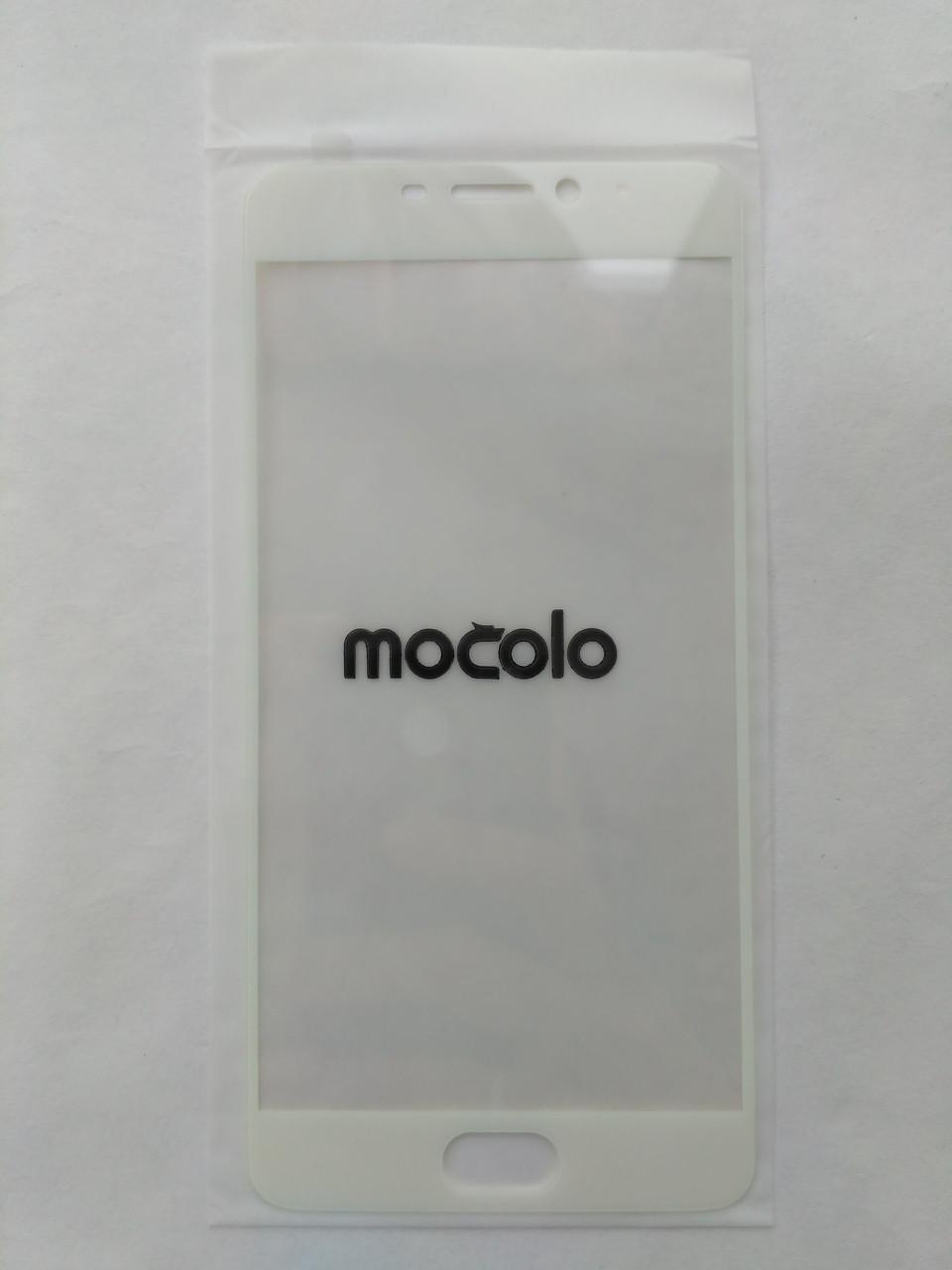 Защитное стекло белое Mocolo для Meizu M5 Note