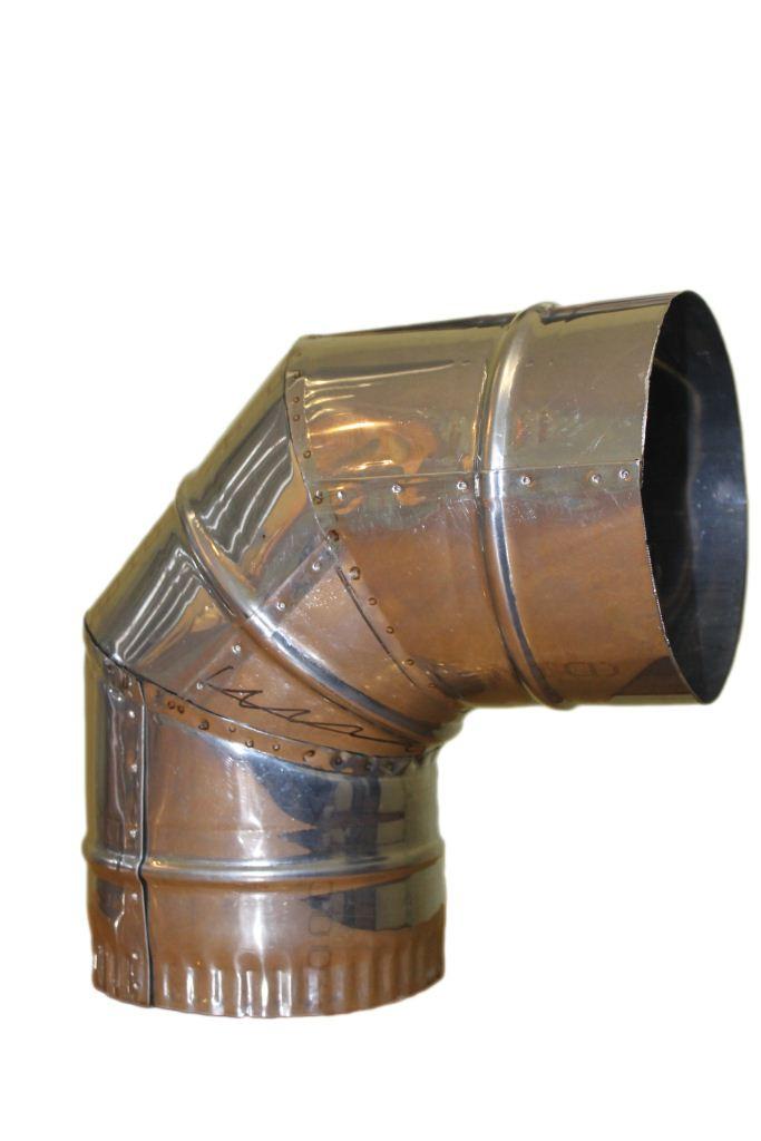 Коліно з оцинкованої сталі 90 ø150