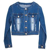 Джинсовый пиджак для девочки-подростка