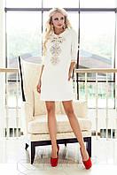 Женская белая туника Алания_1 Jadone Fashion 50-56 размеры