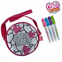 Мини-сумочка  Color Me Mine с блестками Сердца Simba 6379137