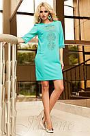 Женская бирюзовая туника Алания_1 Jadone Fashion 50-56 размеры