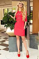 Женская красная туника Алания_1 Jadone Fashion 50-56 размеры