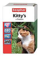 Кормовая добавка Beaphar Kitty's + Protein для кошек с протеином, 180 таб