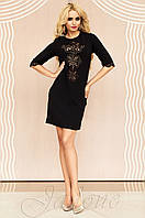 Женская черная туника Алания_1 Jadone Fashion 50-56 размеры