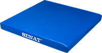 Мат детский гимнастический 1х1, кожзам, синий, 1352-bl