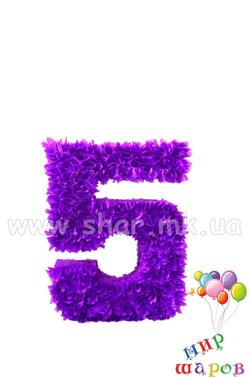 """Декоративная цифра """"5"""" ручной работы"""