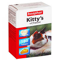 Кормовая добавка Beaphar Kitty's + Cheese для кошек, 180 таб