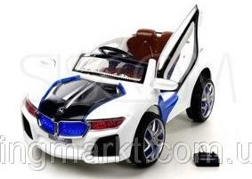 Детский электромобиль BMW i8 (белый) 2 двигателя!